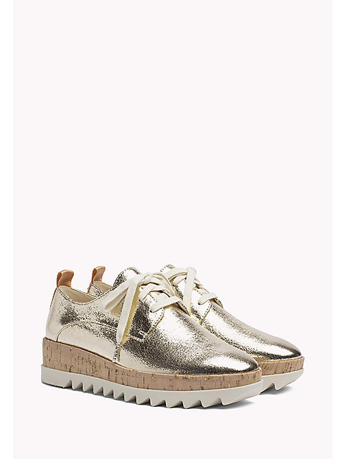 TOMMY JEANS Metallic Platform Shoes - LIGHT GOLD - TOMMY JEANS WOMEN - main image