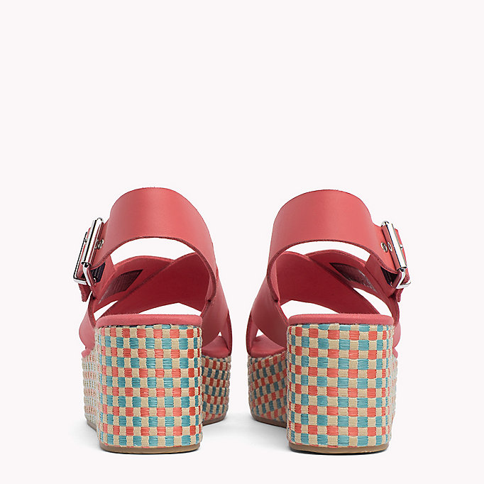 TOMMY JEANS Gingham Platform Sandals - MIDNIGHT - TOMMY JEANS SHOES - detail image 2