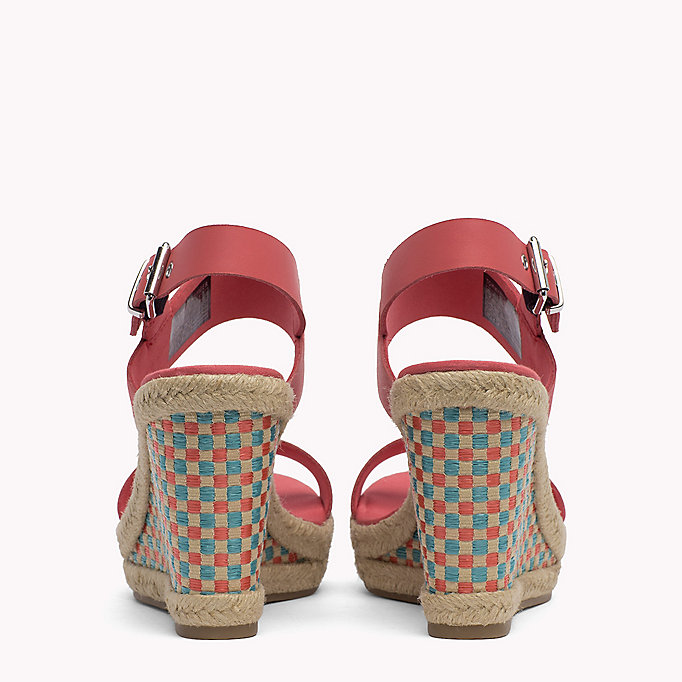 TOMMY JEANS Gingham Pattern Wedge Sandals - MIDNIGHT - TOMMY JEANS SHOES - detail image 2