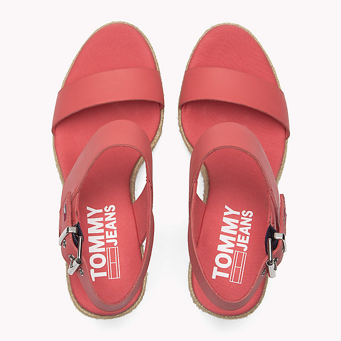 TOMMY JEANS Gingham Pattern Wedge Sandals - MIDNIGHT - TOMMY JEANS SHOES - detail image 3