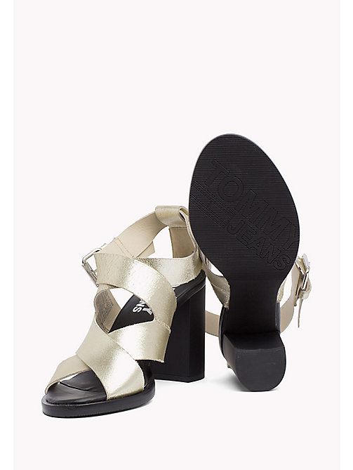 TOMMY JEANS Metallic Heeled Sandals - LIGHT GOLD - TOMMY JEANS Occasion wear - detail image 1