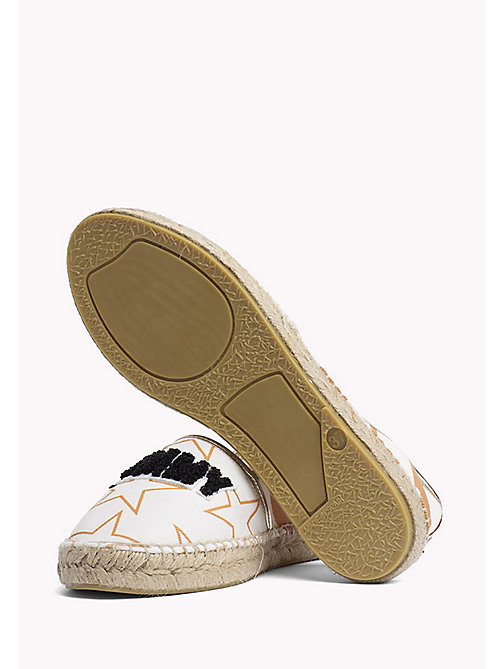 TOMMY JEANS Metallic Logo Espadrilles - OFF WHITE - TOMMY JEANS Shoes - detail image 1