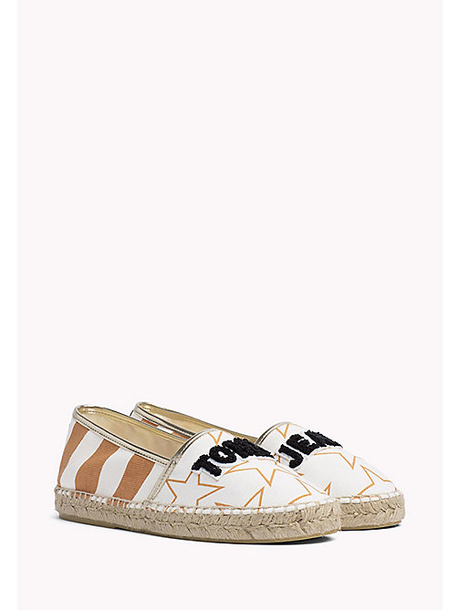 TOMMY JEANS Metallic Logo Espadrilles - OFF WHITE - TOMMY JEANS VACATION FOR HER - main image