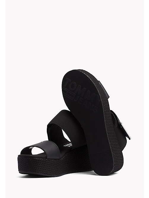 TOMMY JEANS Flatform Wedge Mules - BLACK - TOMMY JEANS WOMEN - detail image 1
