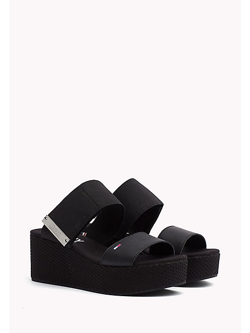 TOMMY JEANS Flatform Wedge Mules - BLACK - TOMMY JEANS Tommy Jeans Shoes - main image