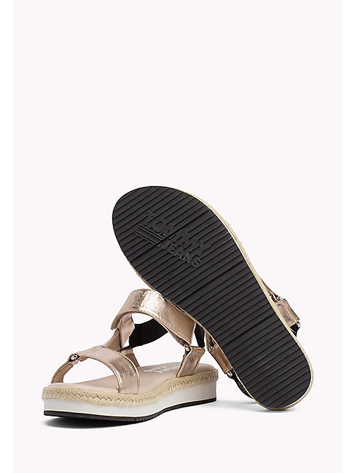 TOMMY JEANS Metallic Logo Sandals - ROSE GOLD - TOMMY JEANS Tommy Jeans Shoes - detail image 1