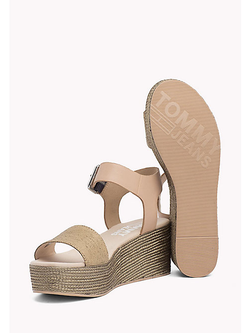 TOMMY JEANS Denim Flatform Sandals - NUDE - TOMMY JEANS VACATION FOR HER - detail image 1