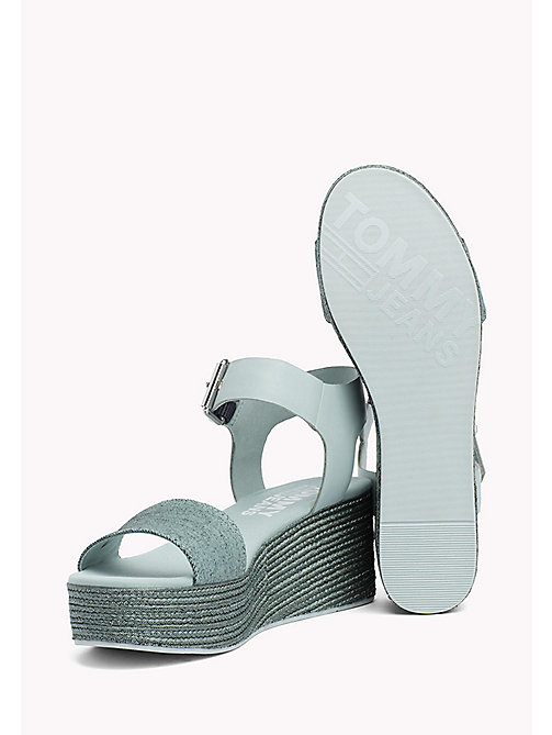 TOMMY JEANS Denim Flatform Sandals - BLUE HAZE - TOMMY JEANS Tommy Jeans Shoes - detail image 1
