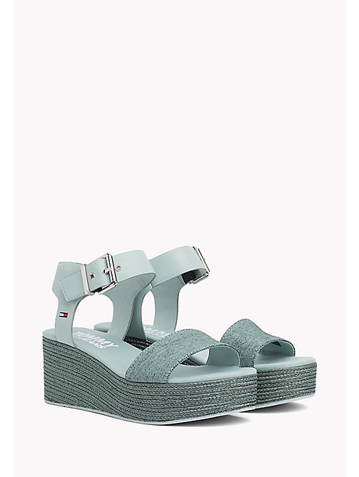TOMMY JEANS Denim Flatform Sandals - BLUE HAZE - TOMMY JEANS Tommy Jeans Shoes - main image