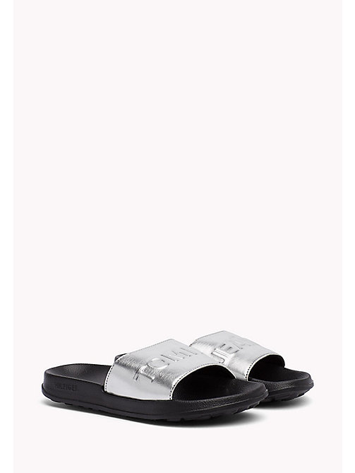 TOMMY JEANS Metallic Slider - SILVER - TOMMY JEANS Tommy Jeans Shoes - main image