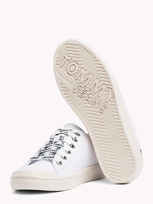 TOMMY JEANS Tommy Jeans Lightweight Logo Lace Trainers - WHITE - TOMMY JEANS VACATION FOR HER - detail image 1