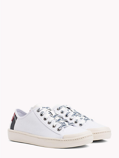 TOMMY JEANS Tommy Jeans Lightweight Logo Lace Trainers - WHITE -  Festival Season - main image