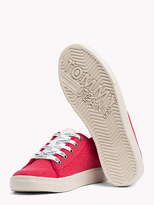 TOMMY JEANS Tommy Jeans Lightweight Logo Lace Trainers - TOMMY RED - TOMMY JEANS VACATION FOR HER - detail image 1