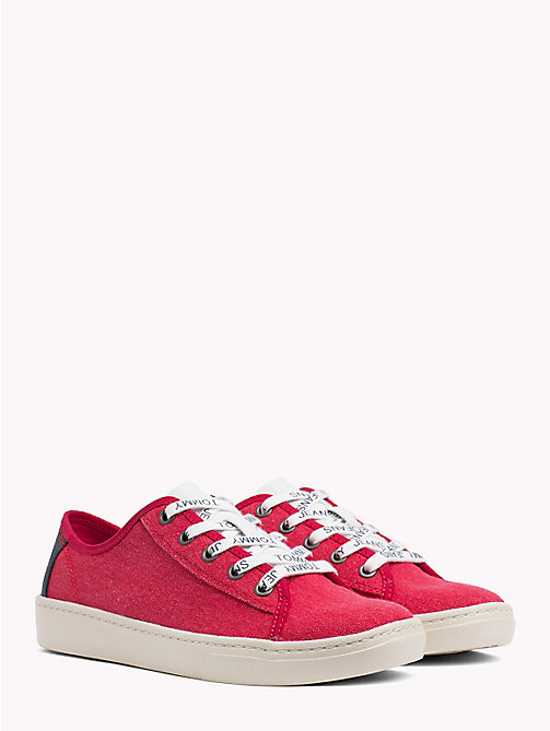 TOMMY JEANS Tommy Jeans Lightweight Logo Lace Trainers - TOMMY RED - TOMMY JEANS VACATION FOR HER - main image