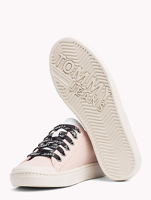 TOMMY JEANS Tommy Jeans Lightweight Logo Lace Trainers - ROSE CLOUD - TOMMY JEANS Festival Season - detail image 1