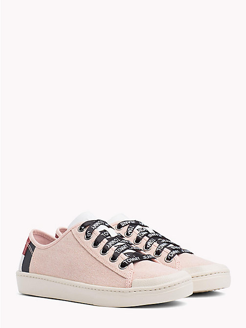 TOMMY JEANS Tommy Jeans Lightweight Logo Lace Trainers - ROSE CLOUD - TOMMY JEANS Festivals Season - main image
