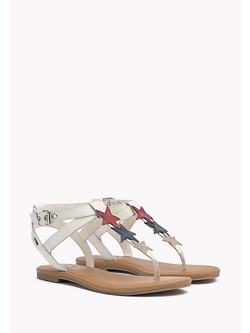 TOMMY JEANS Leather Star Sandals - WHISPER WHITE - TOMMY JEANS WOMEN - main image