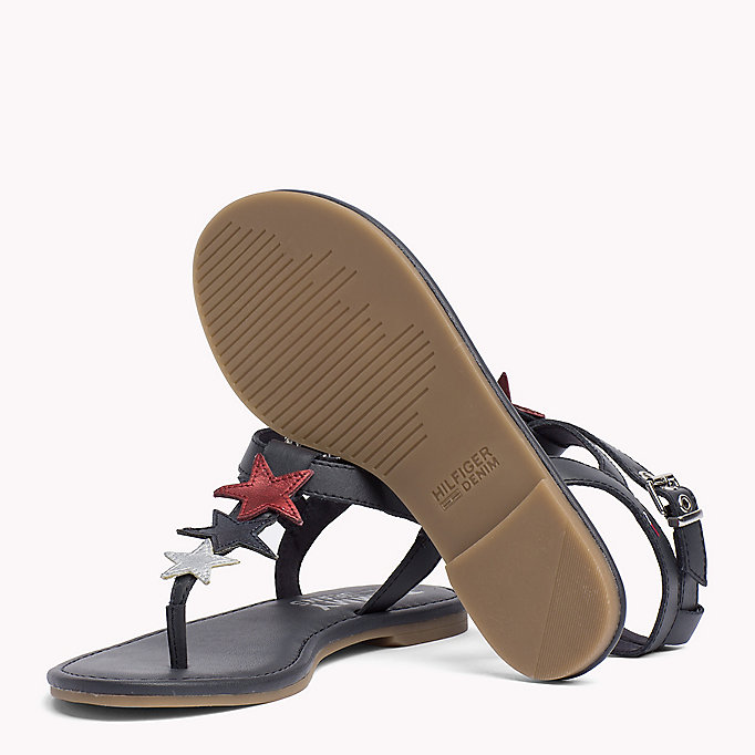 TOMMY JEANS Leather Star Sandals - WHISPER WHITE - TOMMY JEANS SHOES - detail image 1