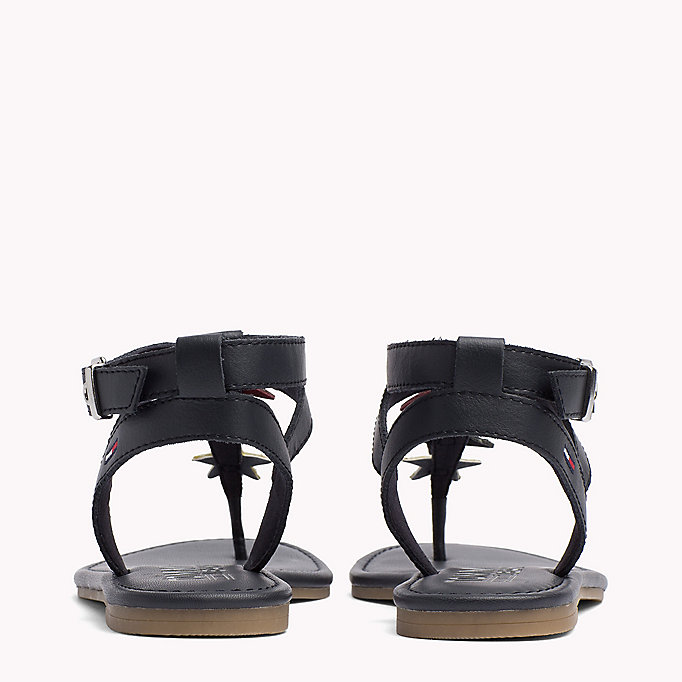 TOMMY JEANS Leather Star Sandals - WHISPER WHITE - TOMMY JEANS SHOES - detail image 2