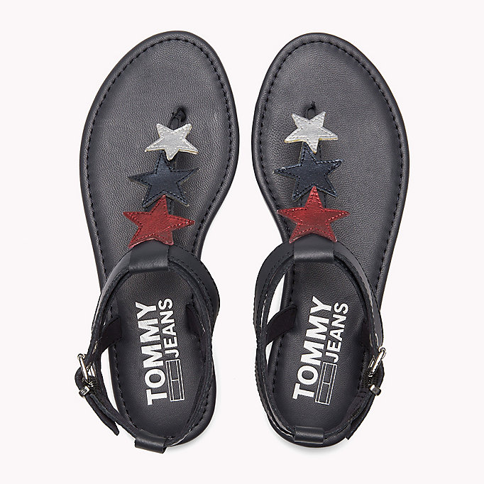 TOMMY JEANS Leather Star Sandals - WHISPER WHITE - TOMMY JEANS SHOES - detail image 3