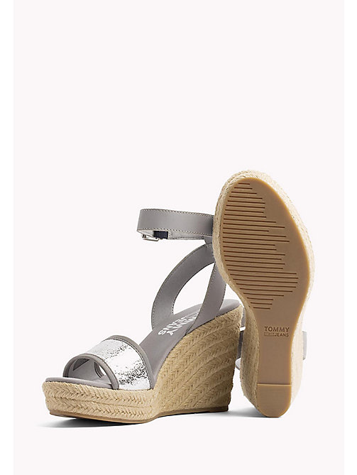 TOMMY JEANS Metallic Wedge Sandals - SILVER - TOMMY JEANS Wedges - detail image 1