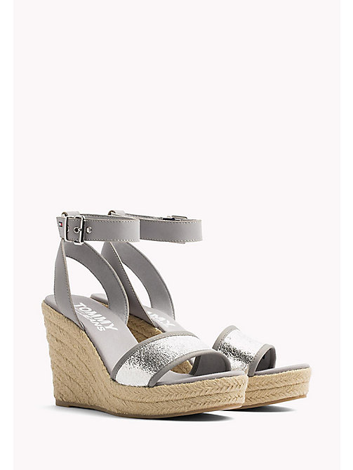TOMMY JEANS Metallic Wedge Sandals - SILVER - TOMMY JEANS Wedges - main image
