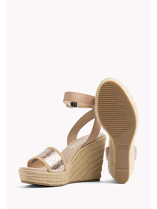 TOMMY JEANS Metallic Wedge Sandals - ROSE GOLD - TOMMY JEANS Wedges - detail image 1