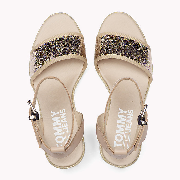 TOMMY JEANS Metallic Wedge Sandals - SILVER - TOMMY JEANS SHOES - detail image 3