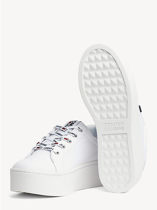 TOMMY JEANS Sneakers con suola alta - WHITE - TOMMY JEANS Tommy Jeans Scarpe - dettaglio immagine 1