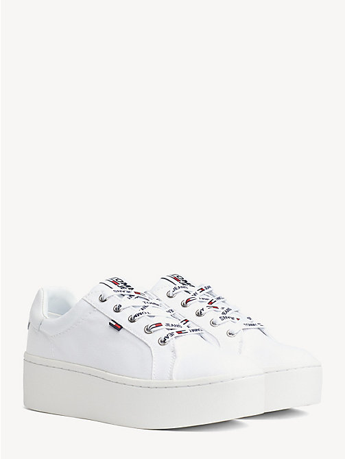 TOMMY JEANS Flatform Trainers - WHITE - TOMMY JEANS WOMEN - main image