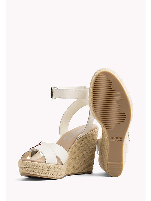 TOMMY JEANS Star Badge Wedge Sandals - WHISPER WHITE - TOMMY JEANS Wedges - detail image 1