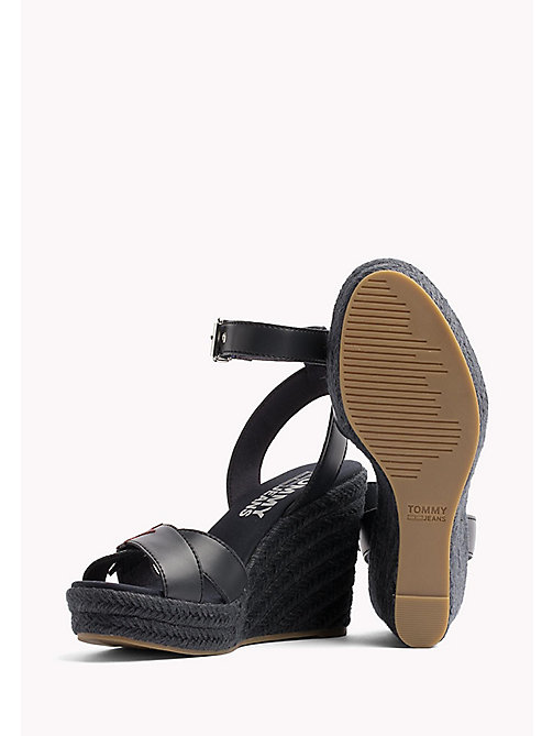 TOMMY JEANS Star Badge Wedge Sandals - MIDNIGHT - TOMMY JEANS Wedges - detail image 1