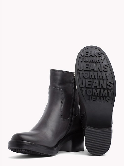 TOMMY JEANS Leather Biker Boots - STEEL GREY - TOMMY JEANS Shoes & Accessories - detail image 1