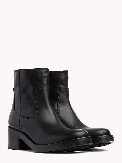 TOMMY JEANS Leather Biker Boots - BLACK - TOMMY JEANS Shoes & Accessories - main image