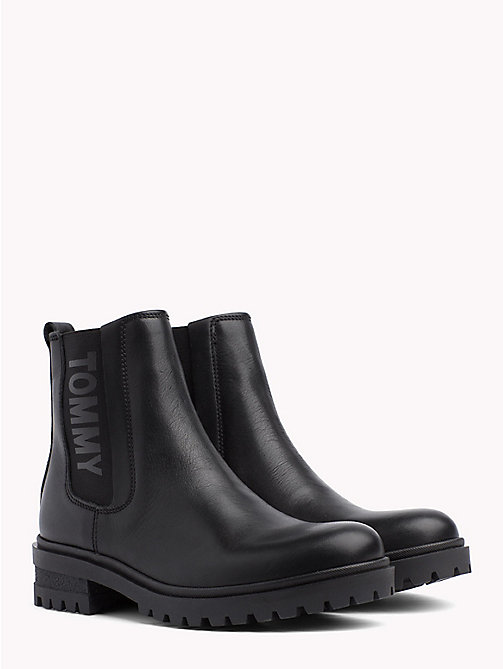 TOMMY JEANS ESSENTIAL CLEATED CHELSEA BOOT - BLACK - TOMMY JEANS Shoes & Accessories - main image