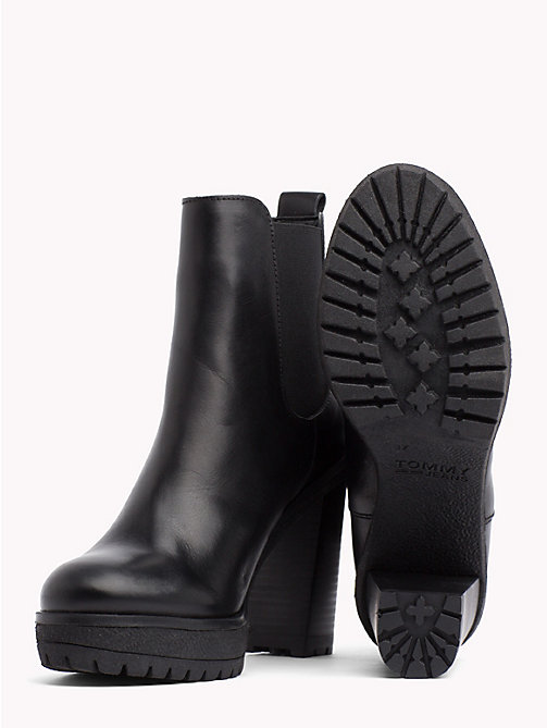 TOMMY JEANS Heeled Chelsea Boots - BLACK - TOMMY JEANS Shoes & Accessories - detail image 1