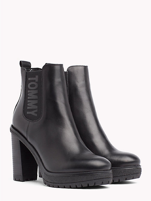 TOMMY JEANS Heeled Chelsea Boots - BLACK - TOMMY JEANS Shoes & Accessories - main image