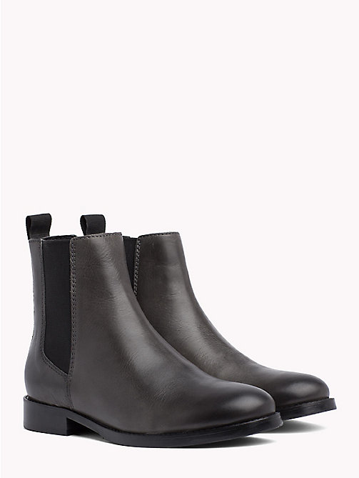 TOMMY JEANS Classic Leather Chelsea Boots - STEEL GREY - TOMMY JEANS VACATION - main image