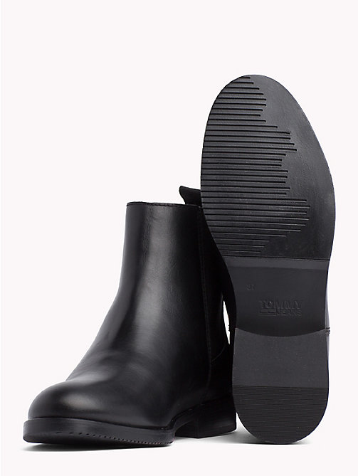TOMMY JEANS Classic Leather Chelsea Boots - BLACK - TOMMY JEANS Shoes & Accessories - detail image 1