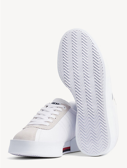 TOMMY JEANS Retro Colour-Blocked Trainers - WHITE -  Shoes - detail image 1