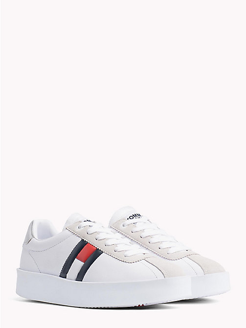 TOMMY JEANS Retro Colour-Blocked Trainers - WHITE - TOMMY JEANS Shoes & Accessories - main image