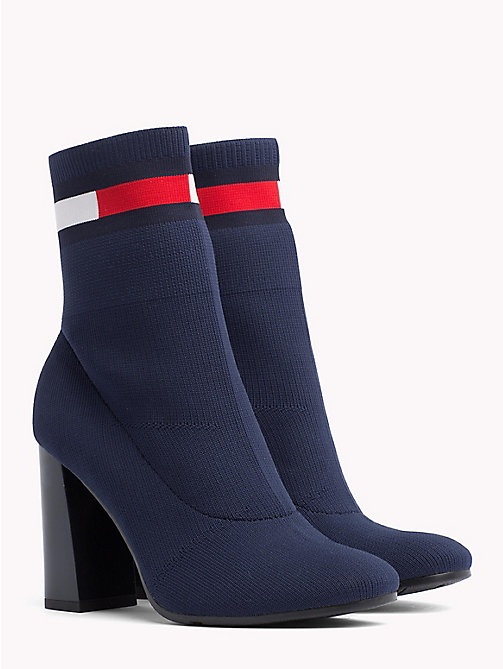 TOMMY JEANS Flag Heeled Sock Boots - TOMMY NAVY - TOMMY JEANS VACATION - main image