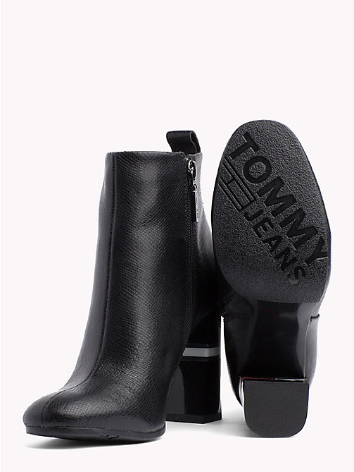 TOMMY JEANS Metallic Colour-Blocked Heel Boots - BLACK - TOMMY JEANS VACATION - detail image 1