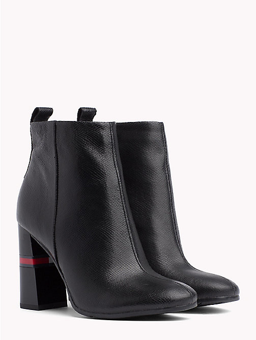 TOMMY JEANS Metallic Colour-Blocked Heel Boots - BLACK - TOMMY JEANS VACATION - main image