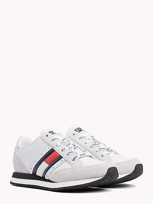TOMMY JEANS Retro Flag Trainers - RWB - TOMMY JEANS Shoes & Accessories - main image