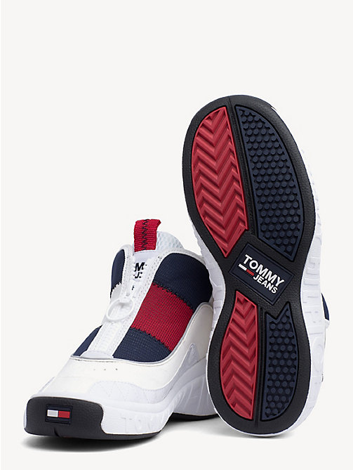 TOMMY JEANS Contrast Zipped Trainers - RWB - TOMMY JEANS Shoes & Accessories - detail image 1