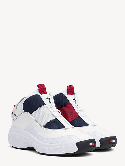 TOMMY JEANS Contrast Zipped Trainers - RWB - TOMMY JEANS Shoes & Accessories - main image
