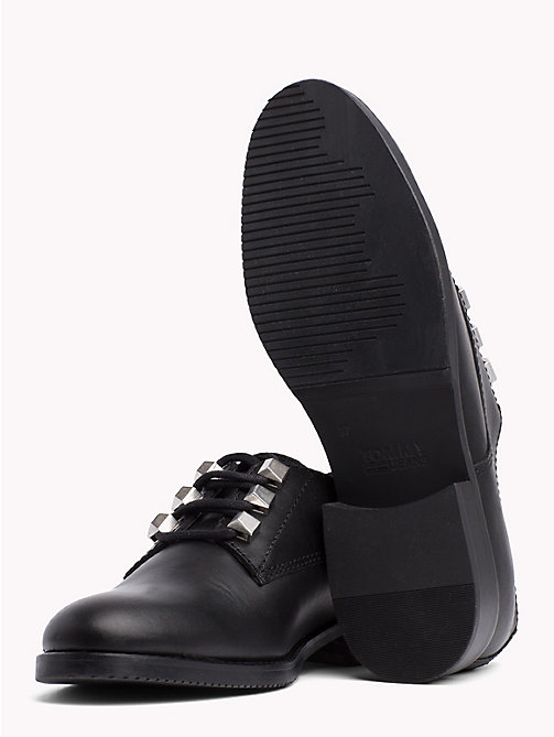 TOMMY JEANS Stud Lace-Up Shoes - BLACK - TOMMY JEANS VACATION - detail image 1