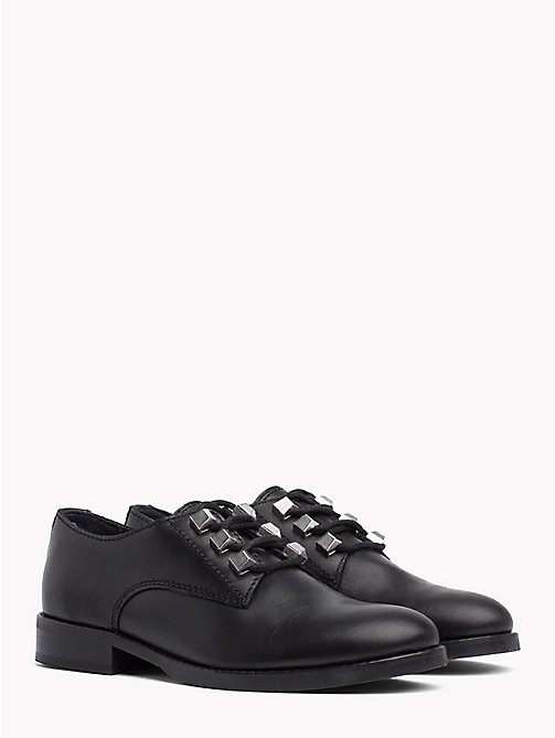 TOMMY JEANS Stud Lace-Up Shoes - BLACK - TOMMY JEANS VACATION - main image