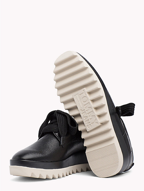 TOMMY JEANS Flatform Logo Tape Trainers - BLACK - TOMMY JEANS Shoes - detail image 1